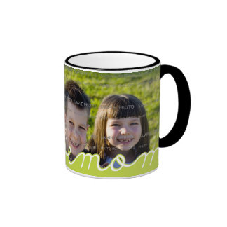 We Love Mom Mother s Day Mugs with Photo Green