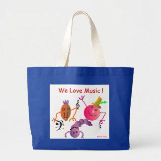We Love Music ! Big Tote Bag (Customize)
