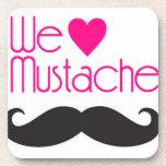 We love Mustache Beverage Coaster