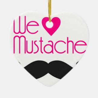 We love Mustache Ceramic Ornament