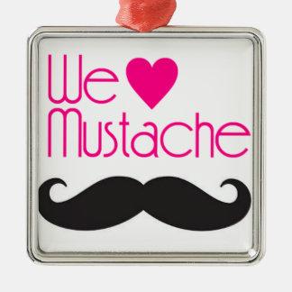 We love Mustache Metal Ornament