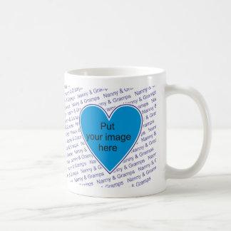 We love Nanny & Gramps - personalize with photo Basic White Mug