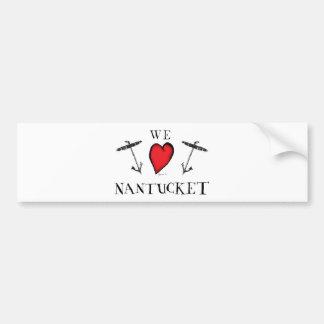 we love nantucket bumper sticker