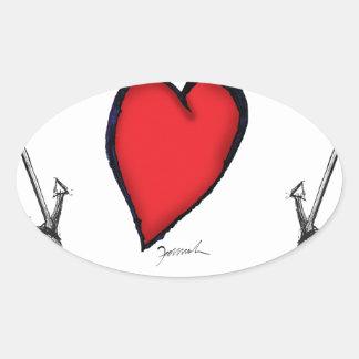 we love nantucket oval sticker