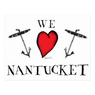 we love nantucket postcard