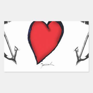 we love nantucket rectangular sticker