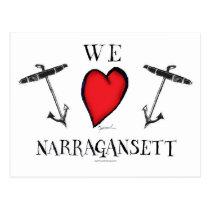we love narragansett postcard