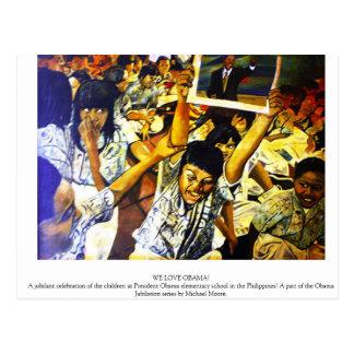 We Love Obama Postcard