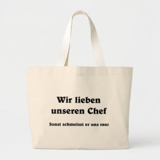 We love our boss tote bag