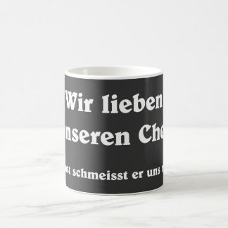 We love our boss coffee mug
