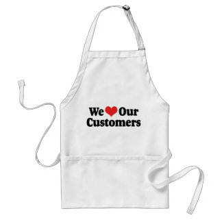 We Love Our Customers Adult Apron