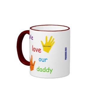 We Love Our Daddy (2 Children) 2-Image Mug