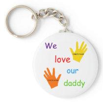 We Love Our Daddy (2 Children) Keychain