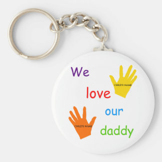 We Love Our Daddy (2 Children) Keychain