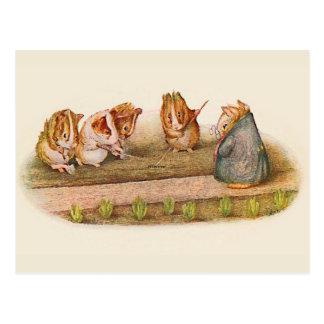 ❝We Love our Little Garden❞ Guinea Pig Postcard