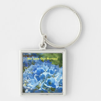 We Love Our Nurses! gift trinkets Nursing week Silver-Colored Square Keychain