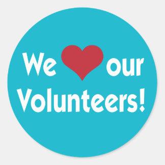 We Love Our Volunteers Heart Sticker