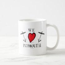 we love plymouth coffee mug