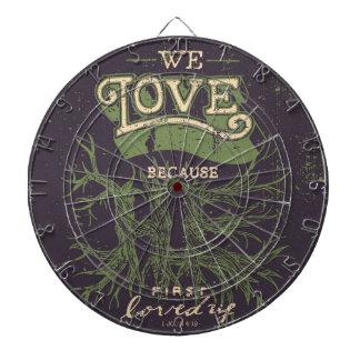 We Love (Purple) Dart Board