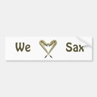 We Love Sax Bumper Sticker