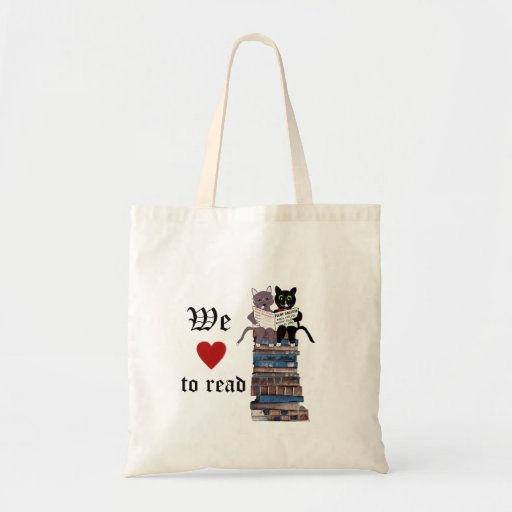 we love to read budget tote bag