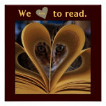 We Love to Read Classroom Literacy Poster
