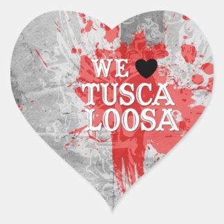 We Love Tuscaloosa (by Fancy Designs) Heart Sticker