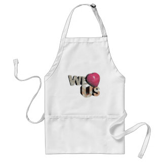 We love US:: on occassion of US independence day Adult Apron