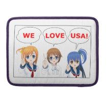 "WE LOVE USA Japanese Girls Macbook Pro 13"" Sleeve"