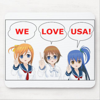 WE LOVE USA Japanese Girls Mouse Propellant-actuat Mouse Pad