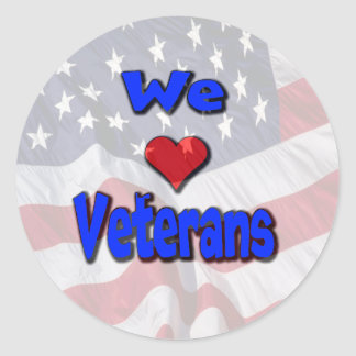 """We Love Veterans"" Stickers"