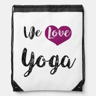 """We love Yoga "" Drawstring Backpack"