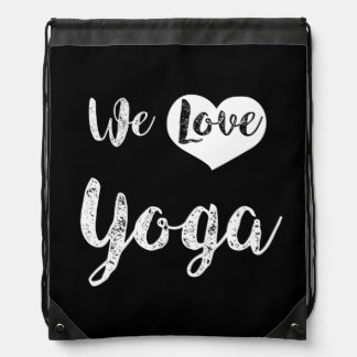 """We love Yoga "" Drawstring Bag"