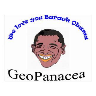 We Love you Barack Obama T-Shirt Postcard