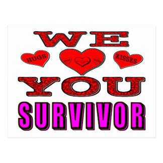 We Love You Breast Cancer Survivor Postcard