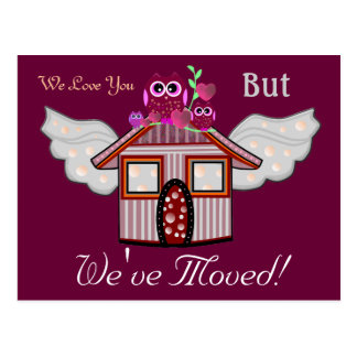 We Love You But We've Moved! Postcard