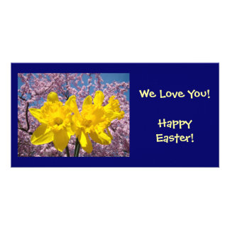 We Love You! card Happy Easter! Daffodil Flowers