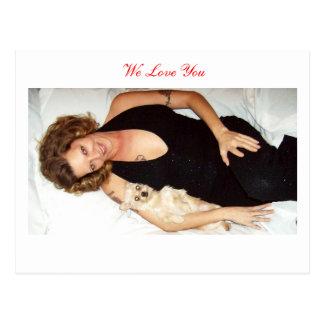 We Love You/Card Postcard