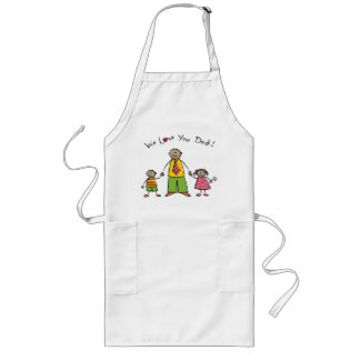 We Love You Dad Cartoon Family Happy Father's Day Long Apron