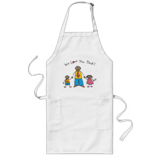 We Love You Dad Cartoon Family Happy Father's Day Aprons