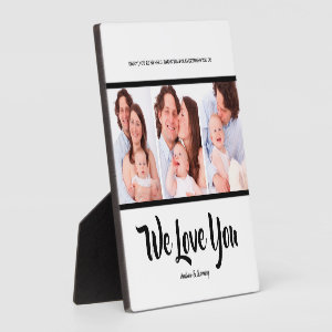 We love you dad , Personalized 3 Photo Collage  Pl Plaque