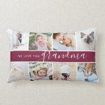 We love you Grandma! Custom Photo Gift Lumbar Pillow