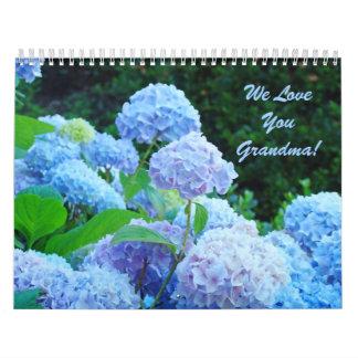 We Love You Grandma Floral gift Calendars Flowers