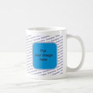 We love you Grandma - personalize with photo Classic White Coffee Mug