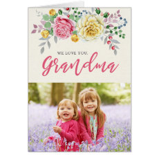 We Love You, Grandma | Photo Greeting Card