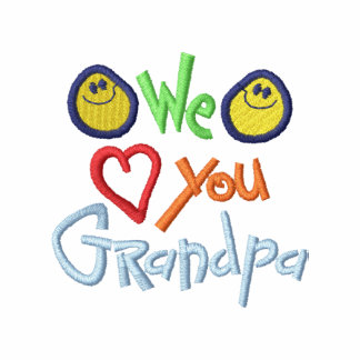 We Love You Grandpa Embroidered Jackets