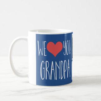 We love you Grandpa multi photo mug