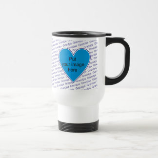 We love you Grandpa - personalize with photo Travel Mug