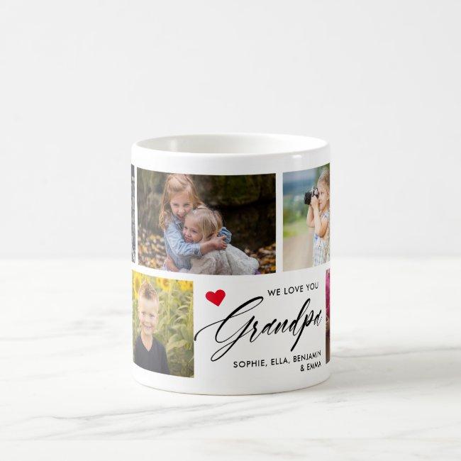 We Love You Grandpa Photo Collage Coffee Mug
