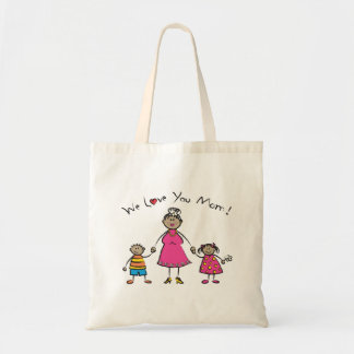 We Love You Mom Cartoon Family Happy Mother's Day Budget Tote Bag